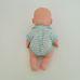 Interaktív csecsemő baba zöld bodyban