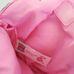 Rózsaszín lila kézitáska copfos kislány mintával