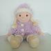 Nagyméretű Tesco lila nagykabátos szőke kislány rongybaba