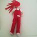 BUD hosszú piros hajú plüss figura
