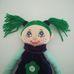 Interaktív nevető zöld hajú Bethany rongybaba