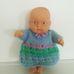 Telitoy Chubby Baby retro csecsemő baba kötött ruhában