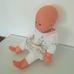 Cititoy puha törzsű csecsemő baba fehér ruhában
