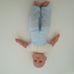 Cititoy puha törzsű kék szemű baba kék fodros kalappal