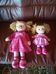 Girlie Paws rózsaszín ruhás rongybaba testvérek