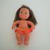 FURGA Babisol barna hajú fürdőruhás kislány baba
