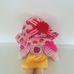Pink hajú rongybaba alma mintás ruhácskában