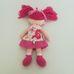 Little Ragdolls Mollie pink hajú rongybaba