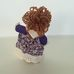 Levendula baba porcelán cipővel dísztárgy