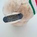 Új, címkés pihepuha plüss maci mikulás sapkában