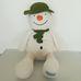 Nagyméretű Marks & Spencer hóember figura sállal és sapkával