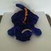 Kék sárga pakolható pocakú plüss dínó párna
