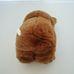 Fényes barna szőrű plüss maci barna szaténszalaggal