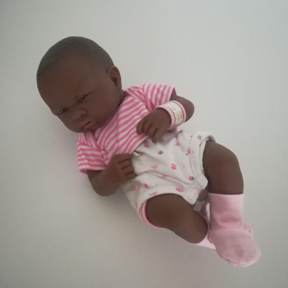 ... Új Berenguer valósághű újszülött néger kislány baba ... 81f360da50