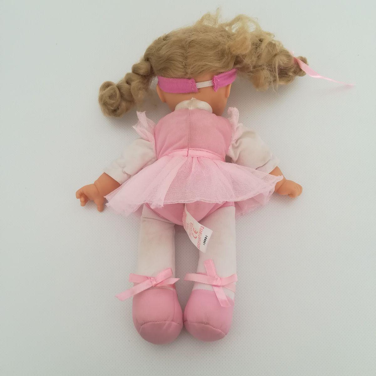... Tesco EMMI kék szemű szőke hajú balerina baba rózsaszínben 3ef01d5dd0