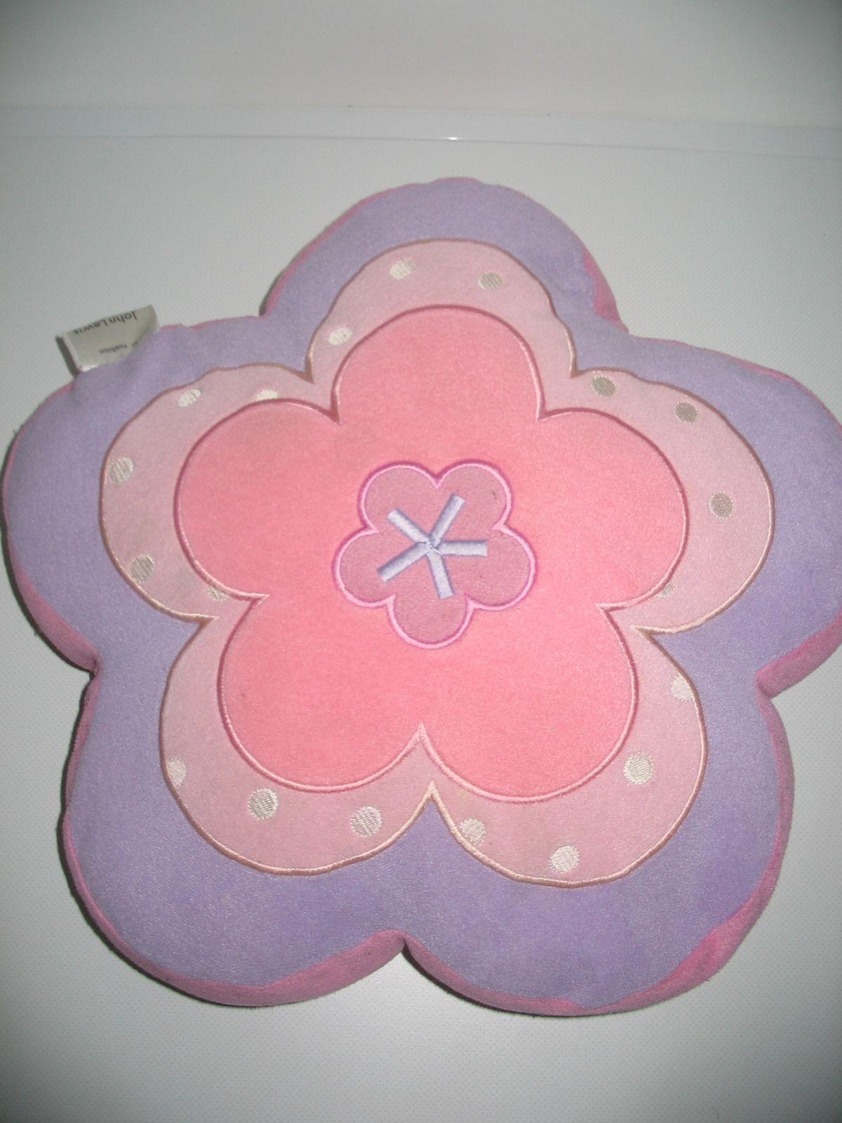 ... Virág formájú rózsaszín-lila kétoldalú plüss párna ... 91a3db0719